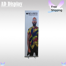 60*200cm Exhibition Booth Portable Full Aluminum Pull Up Banner Advertising Display Stand With Fabric Printing(Optional)(China)