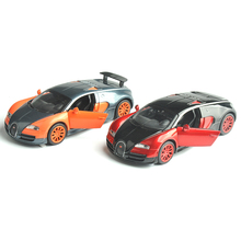 2 Colors 1/32 Bugatti Veyron Alloy Diecast Car Model Boys Toys Gifts With Light Sound Pull Back Kids Gifts Collections(China)