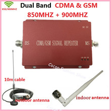 Dual Band Cellular Signal Booster CDMA GSM Signal Repeater GSM 850 900 Mobile Phone Signal Repeater Amplifier for Homes /offices(China)