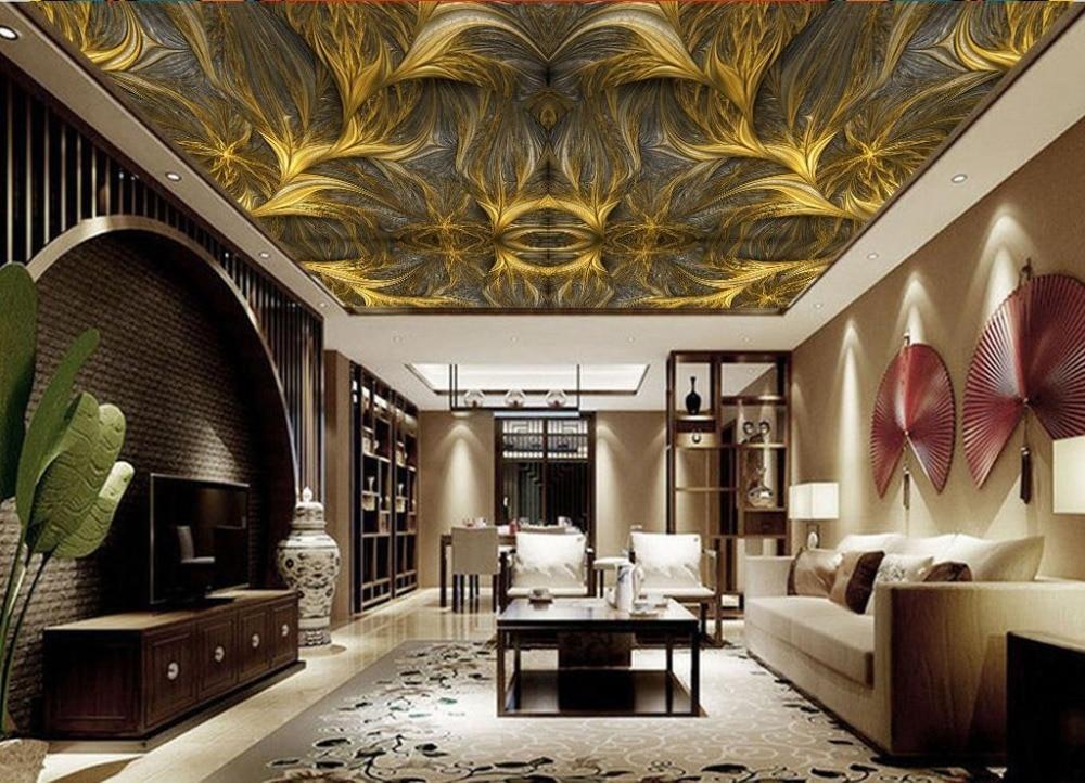 European style Geometric Art Photo Wallpaper On The Ceiling Background Living Room Bathroom  <br>