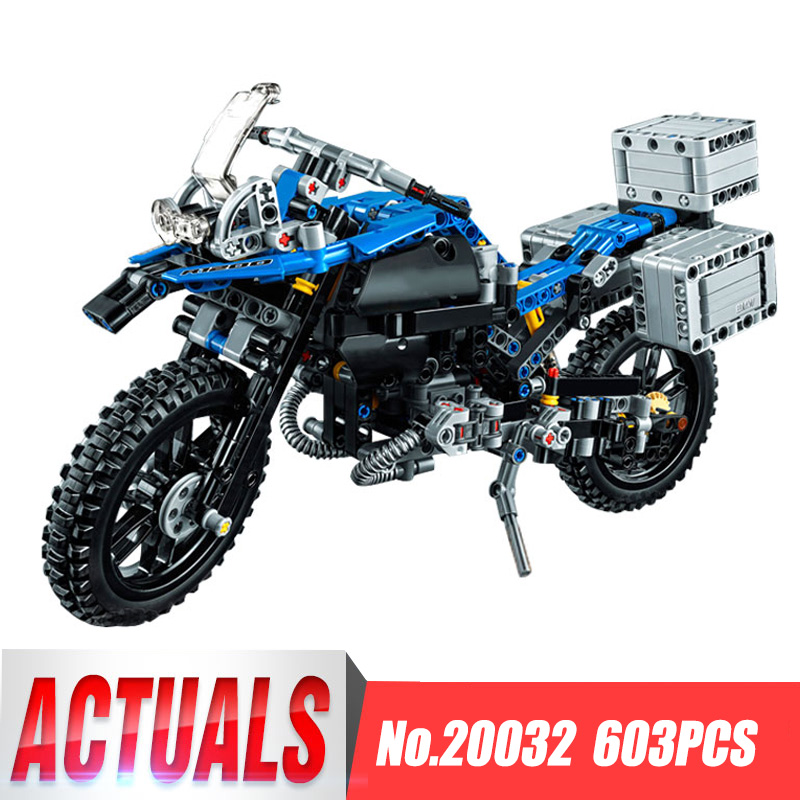 Lepin20032 Technic Off-road Motorcycles R1200 GS Model Building Blocks Blick toy for children Kids gift Compatible legoing 42063<br>