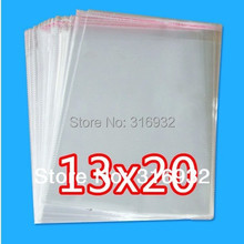 Clear Resealable Cellophane/BOPP/Poly Bags 13*20cm Transparent Opp Bag Packing Plastic Bags Self Adhesive Seal 13*20 cm