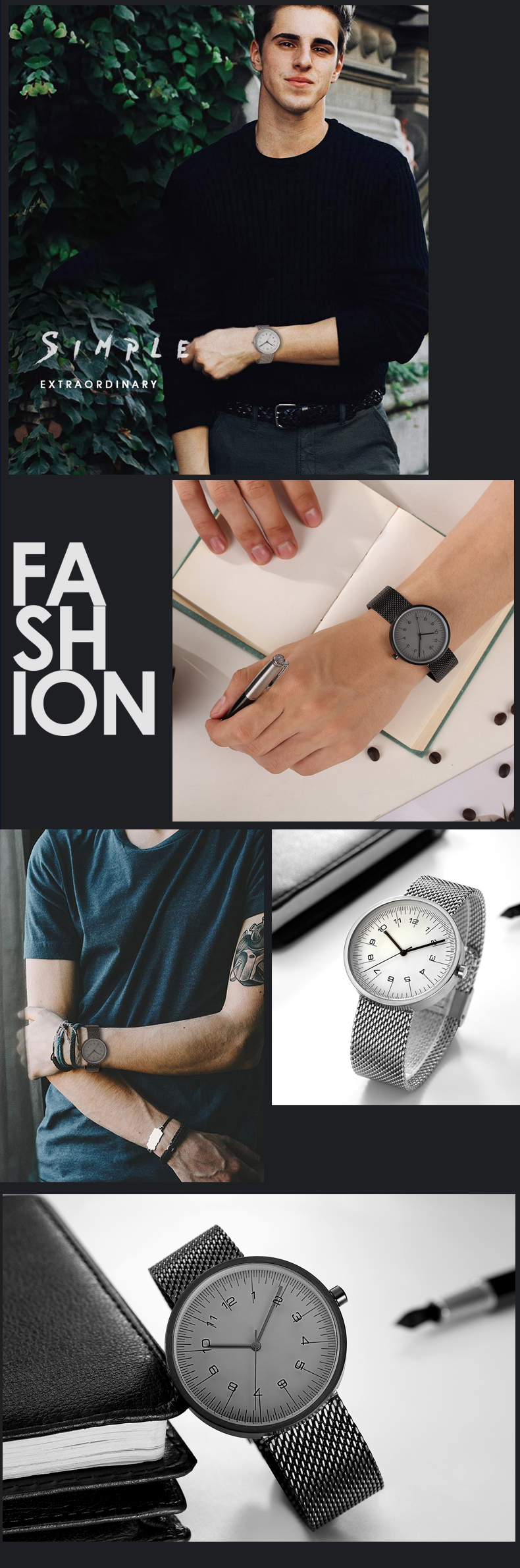 2017 Fashion Trends Watch Men Luxury Brand Quartz Watches Minimalist Jus Mangga By Sabrina Casava Ui Style Fine Mesh Strap Wristwatch Japan Movement Us125