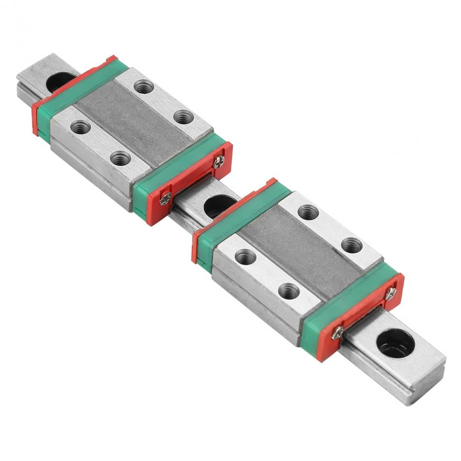 MGN9B Mini Linear Rail Guide 95mm Linear Sliding Gide with MGN9B Carriage Block for DIY 3D Printer and CNC Machine