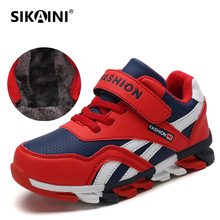 SIKAINI 2018 Newest Children Shoes Winter Warm Fur Boys Sneakers Blade Anti-slip Outdoor Sport Athletic Popular Kids Snow Shoes(China)