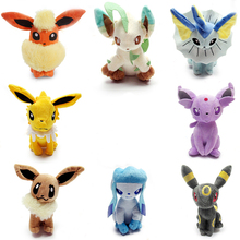 8 styles Anime Umbreon Eevee Espeon Jolteon Vaporeon Flareon Glaceon Leafeon soft stuffed animal toys for kids gifts