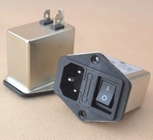 10A power EMI filter CANNY WELL EMI with rocker switch & socket Connector(China)