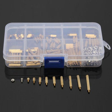 270pcs M2 Standoff Screws Male to Female Brass Standoff Nuts Assortment Kit with Plastic Box For DIY Tool(China)
