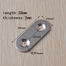 38MM Thick stainless steel Corner Straight Straight strips angle iron Furniture fastener Fittings Hardware Accessories 50PCS