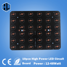 free shipping 10pcs 12W 18W 20W 24W 30W 36W 48W Rectangle LED Aluminum Plate / High Power LED Circuit Board / Heat Plate PCB