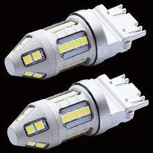2PCS NEW Super Bright T25 3157 3156 P27/7W 30 SMD 3030 LED Auto Brake Lamp Car Daytime Running Light Reverse Bulbs Turn Signals