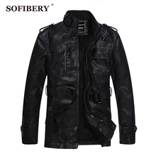 SOFIBERY Brand Motorcycle Leather Jackets Men Autumn Winter Clothing Men Leather Jackets Male Casual Coats SOF-12966