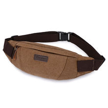 New Multi Function Men Canvas Waist Bag Unisex Pillow Packs Fanny Small Chest Bags for Women Casual Coin Sling Bags Wholesale