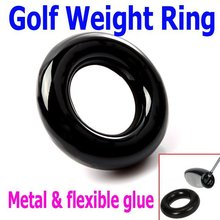 Free Shipping 2PCS/lot Black Round Weight Power Swing Ring for Golf Clubs Warm up Training Aid, Wholesale(China)