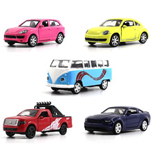 1:64 alloy car model children's toys Volkswagen bus Beetle Ford Mustang F150 Cayenne multiple choices Family Decoration(China)