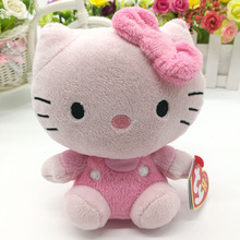 hello kitty cat 15cm 6inch Ty Beanie Boos collection Plush Toy Stuffed Animal Soft Kids Toy Christmas Gift Hot Sale(China)