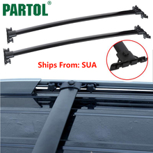 Partol Black Car Roof Rack Cross Bars Roof Luggage Carrier Roof Rail For TOYOTA HIGHLANDER 2008 2009 2010 2011 2012 2013(China)