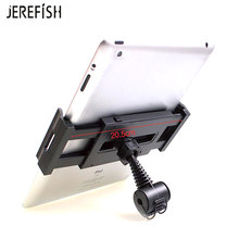 JEREFISH Innovative Car Headrest Tablet Headrest Mount Holder 360 Rotating Car Back Seat Headrest Mount Holder for iPad PC(China)