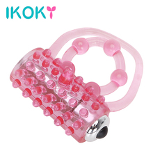 Buy IKOKY Vibrating Penis Rings Silicone Cock Ring Clitoris Stimulate Vibrators Delay Ejaculation Passion EnhanceSex Toys Men
