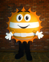 happy sun mascot costume adult size customizable cartoon warm sunshine theme advertising fancy dress costumes(China)