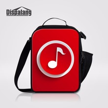 Dispalang Hot Sale Lunch Bags For Kids Musical Note Prints Portable Picnic Food Bag Lunch Cooler Bag Thermal Lunch Containers(China)