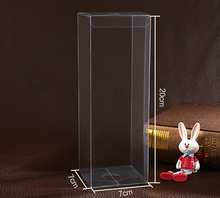 30pcs 7*7*20cm clear plastic pvc box packing boxes for gifts/chocolate/candy/cosmetic/crafts square transparent pvc Box