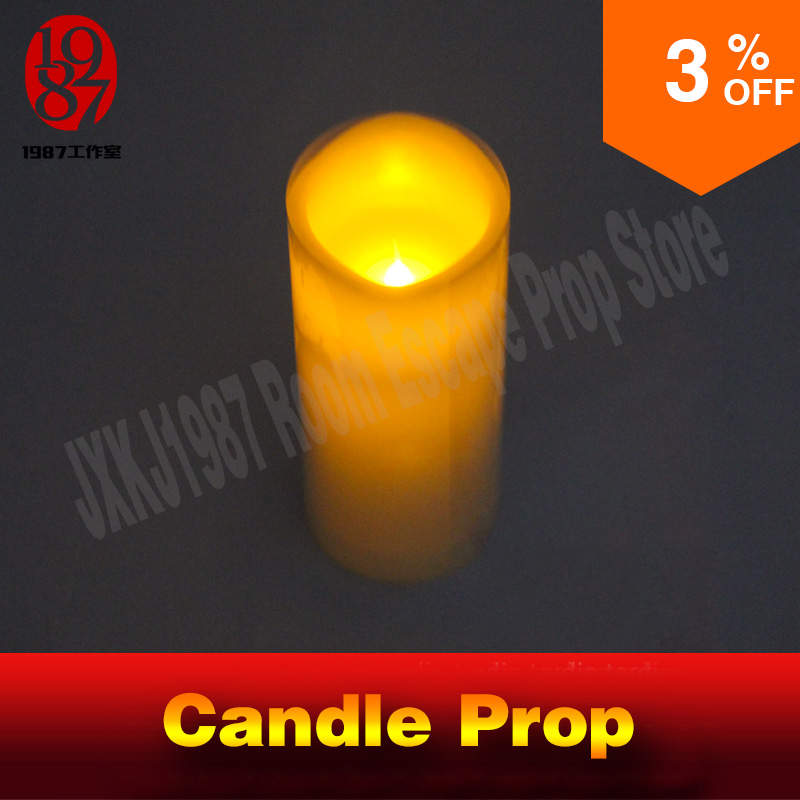 escape room game prop one candle prop blow on or out candle to unlock with audio and release door run out mysterious chamberroom<br>