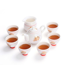 Tea sets Kung Fu teapot cups gift boxed Japanese simple family fair cup white porcelain Living room decoration(China)