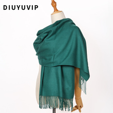 DIUYU 2017 Fashion Scarves Women Solid Cashmere Scarves Tassel lady Winter thick Warm Scarf Female Shawl Scarf Girl Pashmia(China)