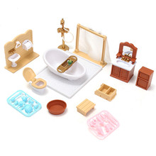 DIY Miniatures Sofa Bedroom Bathroom Dining Table Furniture Sets For Doll House Craft Toys Acessories Christmas Birthday Gift