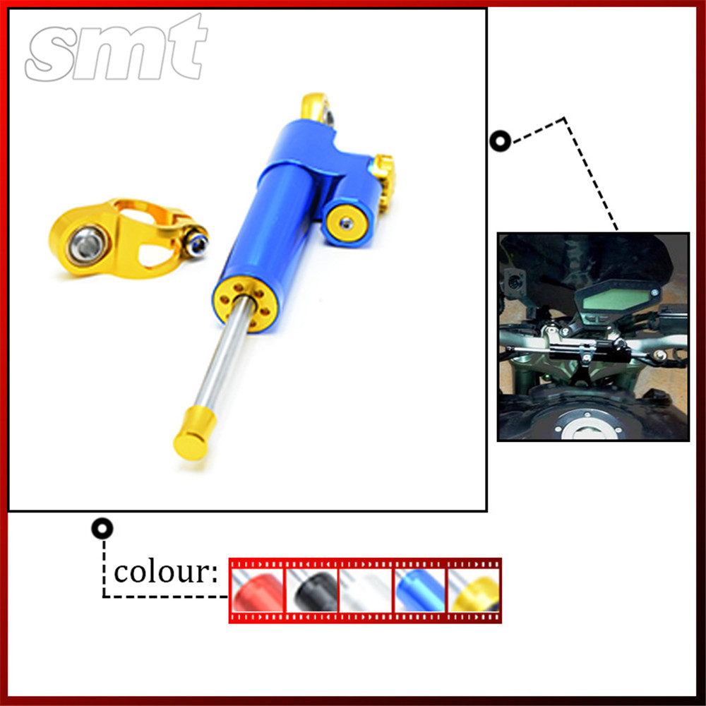 Free shipping Motorcycle Steering Damper For yamaha YZF1000 R1 YZF600 R6 XJR400 bmw S1000 S1000RR KL1100 K1600 R1100 R1150 R1200<br>