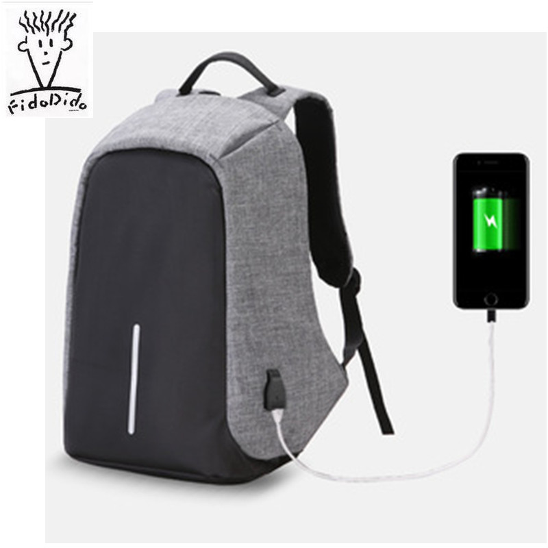 2017 Anti-theft Waterproof Laptop Backpack Men External USB Charge Notebook Backpack for Women Computer bag Mochila!!<br>