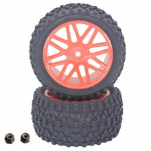 2 Pieces Rubber RC 1/10 Buggy Rear Wheels Tires 12mm Hex For Redcat Tornado EPX S30 Parts