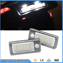 2 Pcs Free Shipping High quality car license plate light  for AUDI tail light led number lights for A3/ A3 Cabriolet/A4/S4 B6/B7