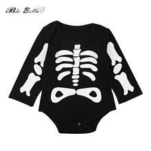 Halloween Festival Casual niños ropa bebé niña recién nacido Niño esqueleto  manga larga body niños niñas 894f16a77c1b7