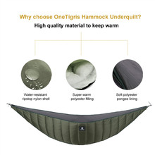 OneTigris Lightweight Full Length Hammock Underquilt Under Blanket 10 F to 21 F (-12 C to -6 C) Fits For Cold Winter(China)