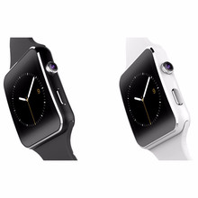 Newest Fashion Bluetooth Smart Watch X6+ Curved Screen Smartwatch For iPhone Android Phone With Camera Support SIM Card TF 8977