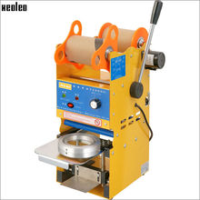 Xeoleo SemiAutomatic Cup sealer Bubble tea machine Cup sealing machine for 9/9.5cm Paper/PE Cup with Temperature adjust US/EU/UK(China)