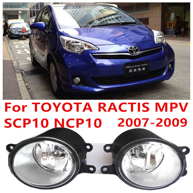 for TOYOTA RACTIS (SCP10_NCP10) 2007-2009 high brightness Front bumper halogen fog lights Car styling 81210-0D040<br><br>Aliexpress
