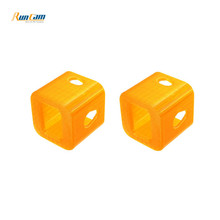 2 PCS RunCam 3 FPV Camera Protective Case Orange Camera Cover for RC Helicopter Accessories Spare Parts(China)