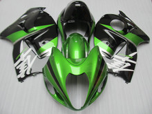 Motorcycle Fairing kit for SUZUKI Hayabusa GSXR1300 96 99 07 GSXR 1300 1996 1999 2007 ABS Green black Fairings set+7gifts SD05