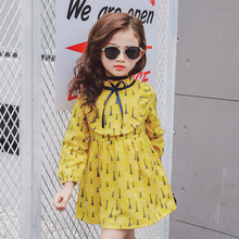 2017 new spring baby girl dress ribbons dandelion above knee dress fashion&sweet style princess dress for party vestido infantil(China)
