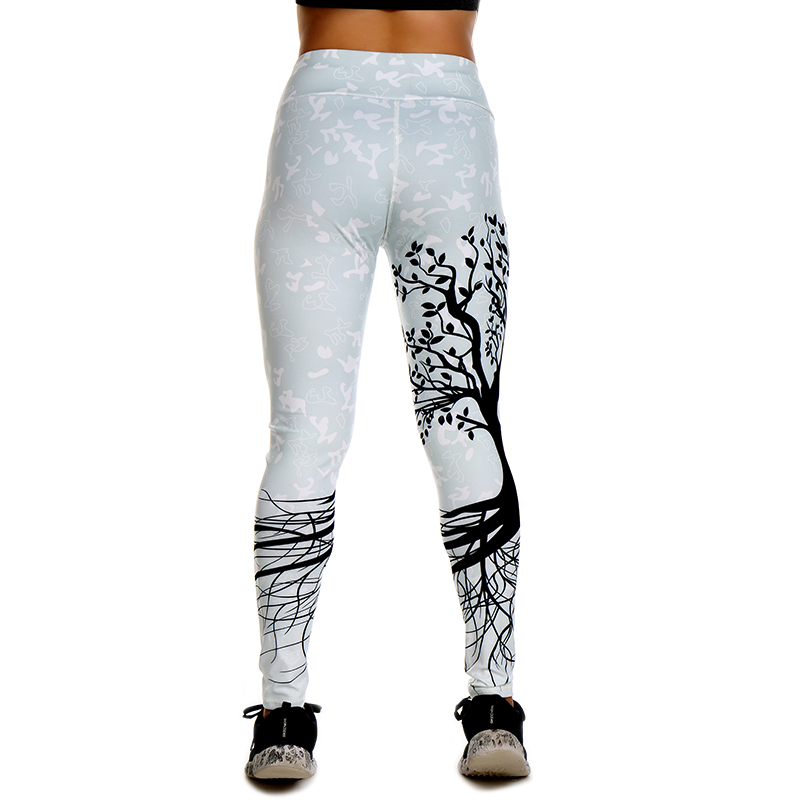 Yoga Leggings Tree Printed Dry Fit Sports Tights for Women 12