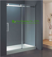 Shower Room best price Whole Shower 304 stainless steel Frameless Stainless Steel Frosted Building Used Shower Doors(China)