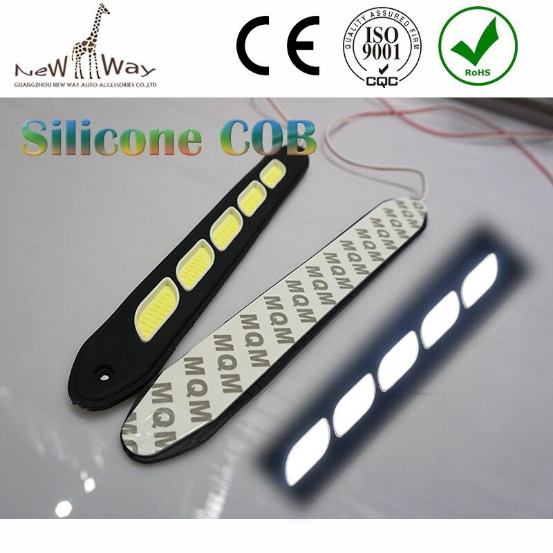 2015 Flexible Silicone IP67 Daytime Running Lights 2Pcs Car LED COB DRL Fog Lights  Waterproof Led Fog Light Free Shipping<br><br>Aliexpress