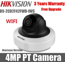 Hikvision 4MP wifi IP Camera WDR Mini PT Network Camera DS-2CD2F42FWD-IWS poe wireless cctv camera pan tilt rotation