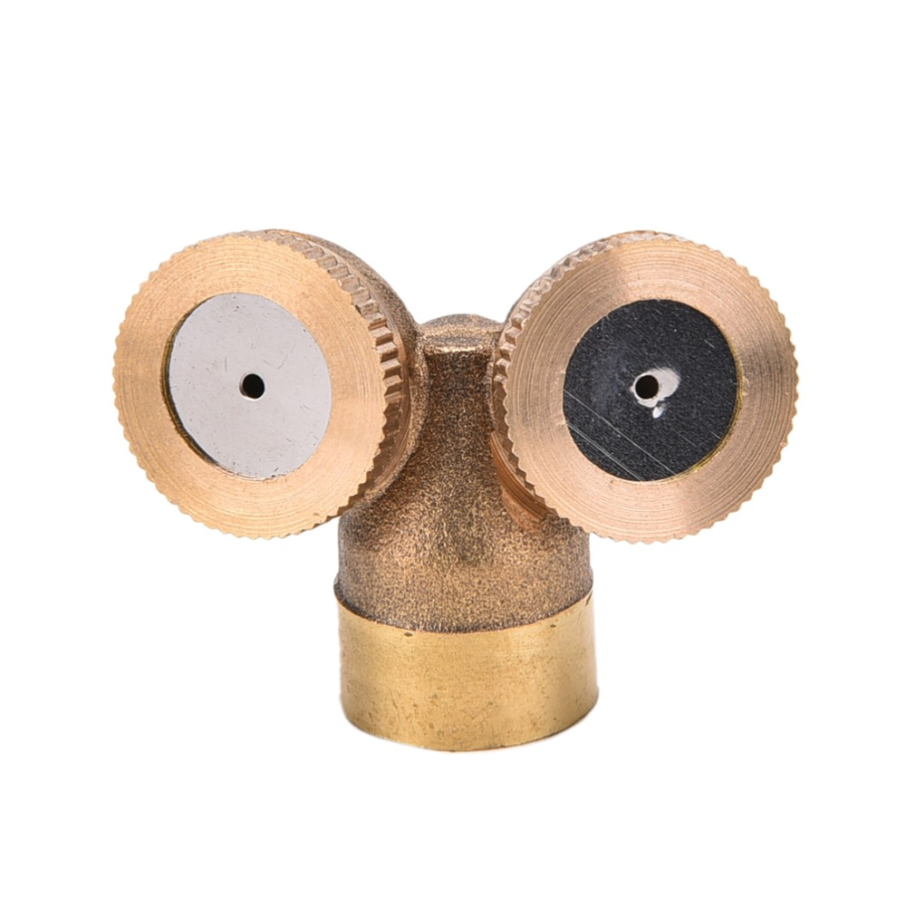 NEW Hot Sale Brass Agricultural Misting Spray Nozzle Garden Sprinkler Irrigation System 1/2/3/4 Nozzles