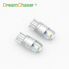 dream Chaser 2pcs T10 led w5w 3030 car lamps 168 194 Universal parking Clearance lights Crystal blue White Orange yellow Red 12v(China)