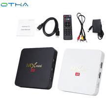 OTHA Amlogic S905X Quad-Core Smart TV Box Android 6.0 Bluetooth 4.0 WiFi 2.4GB Mini Box TV Receiver Support SKYPE MSN Facebook(China)