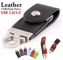 (Custom LOGO) High speed USB 3.0 Leather usb flash drive 8gb 16gb 32gb 64gb 128gb 256gb pen drive personalized Pendrive